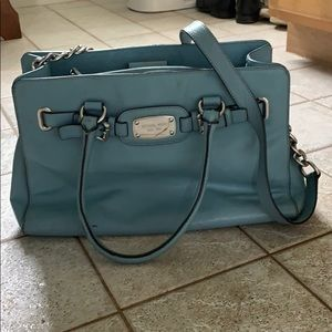 Michael Kors powder blue purse